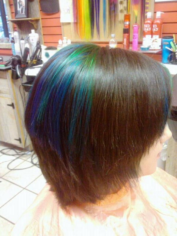 Blue Highlights On Dark Brown Hair 7000 Hair Highlights