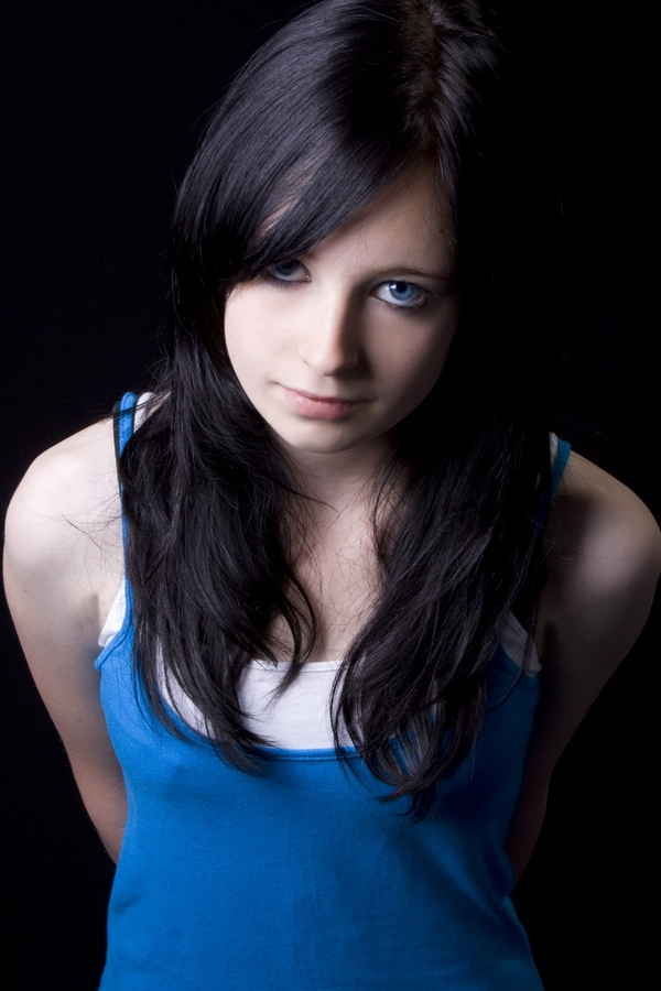 blue girl 30 Great Dark Hair Color Ideas