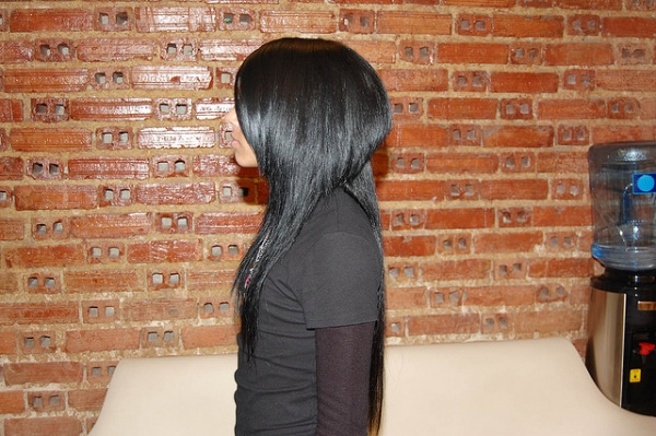 Haircut Dark Hair Long Short Contrast