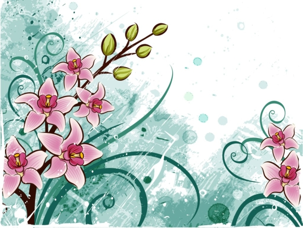 illustration of abstract floral background - Floral Backgrounds