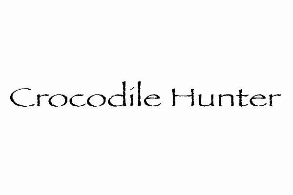 crocodile hunter 35 Movie Fonts That Are Free To Download