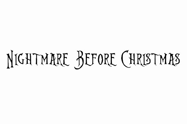 nightmare before christmas 35 Movie Fonts That Are Free To Download