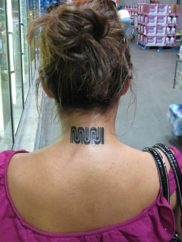 Muni Neck Tattoo