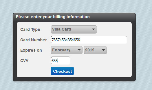 credit card validatio 60 jQuery Plugins You Should Try Today