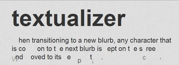 textualizer 60 jQuery Plugins You Should Try Today