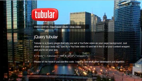 tubular 60 jQuery Plugins You Should Try Today