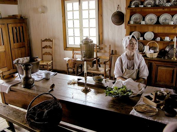 An Old Kitchen In Fort Louisbourg