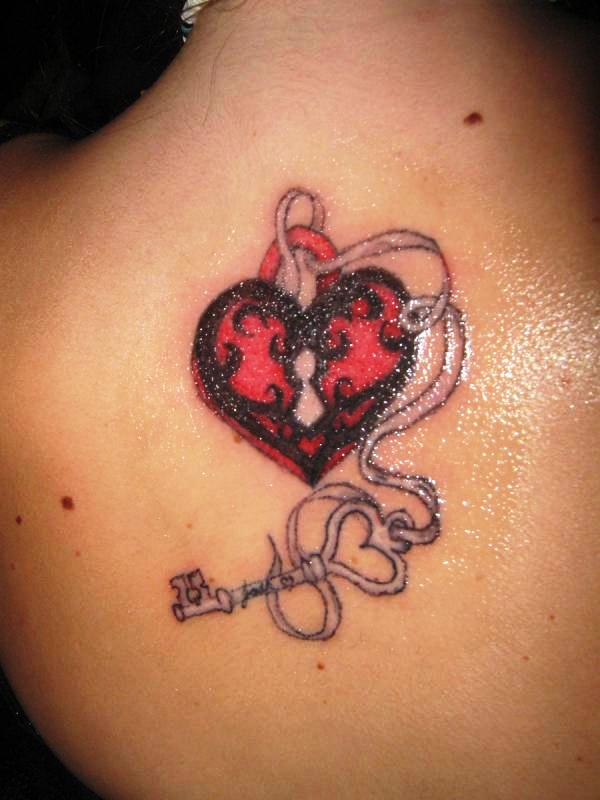 back lock and key 25 Awesome Lock And Key Tattoos