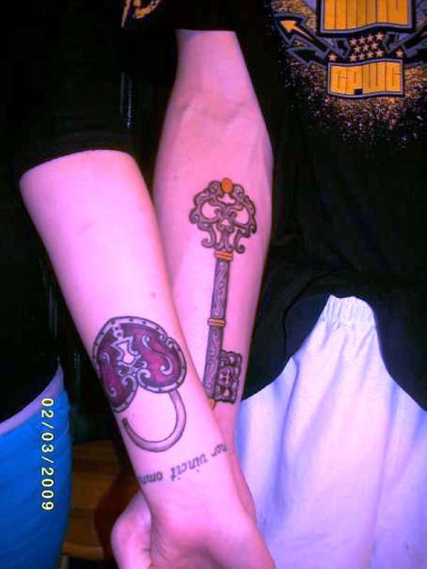 lock key tattoo 25 Awesome Lock And Key Tattoos