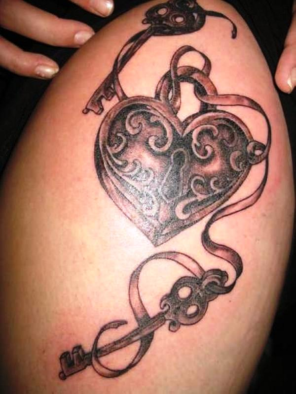 my side arm tattoo 25 Awesome Lock And Key Tattoos