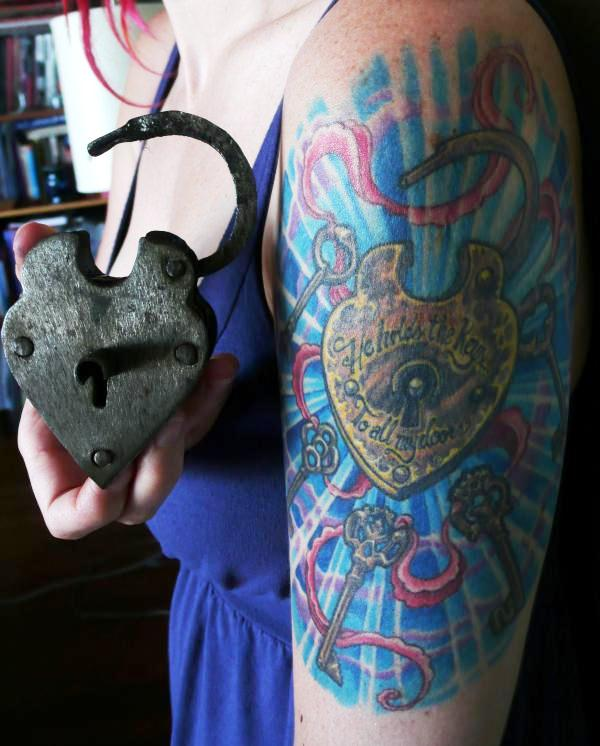 wow key lock tattoo 25 Awesome Lock And Key Tattoos