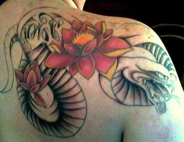 back lotus flower 35 Lovely Lotus Flower Tattoos