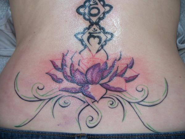 waist lotus tattoo 35 Lovely Lotus Flower Tattoos