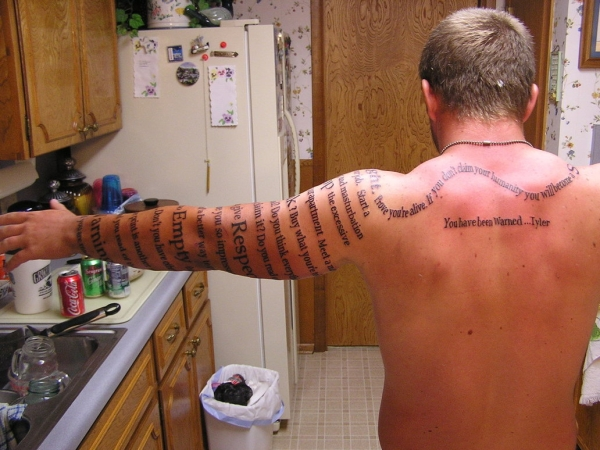 Arm Full Length Tattoo