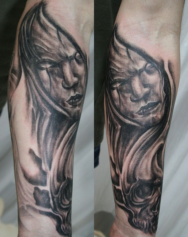 horror arm tattoo 30 Cool Arm Tattoos For Men