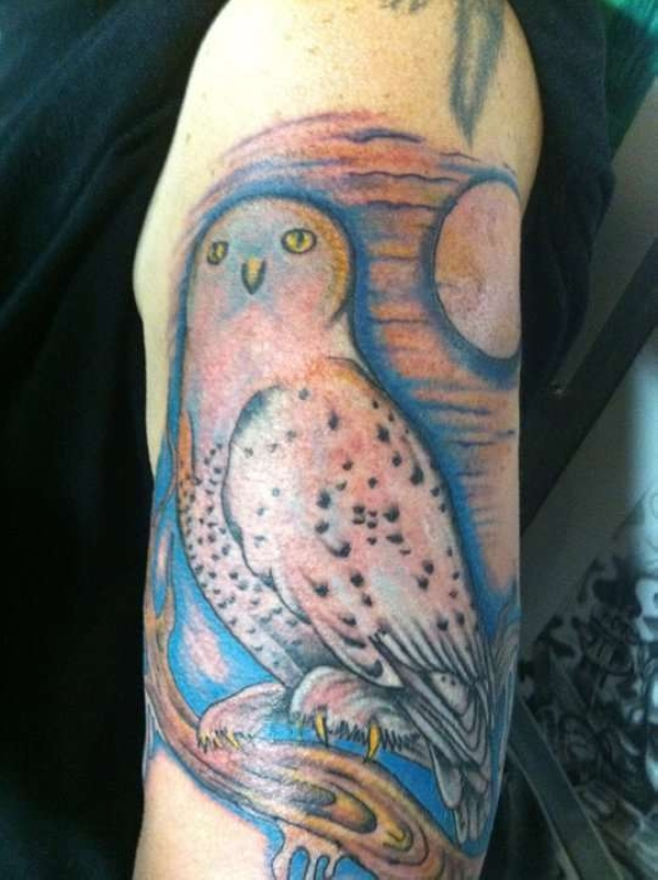 snow owl tattoo 30 Cool Arm Tattoos For Men