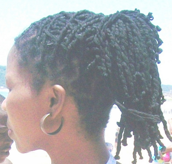 dreadlocks updo 40 Natural Hair Styles For Black Women Which Are Cool