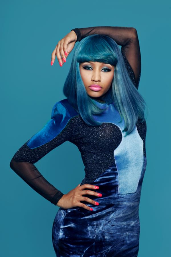 Nicki Minaj Blue Hair