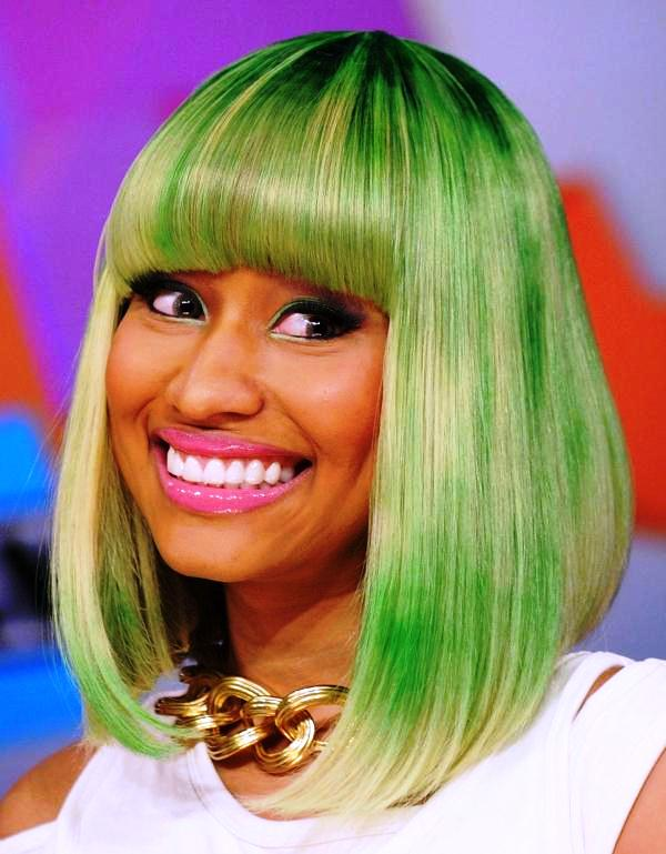 Nicki Minaj Green Shade Hair