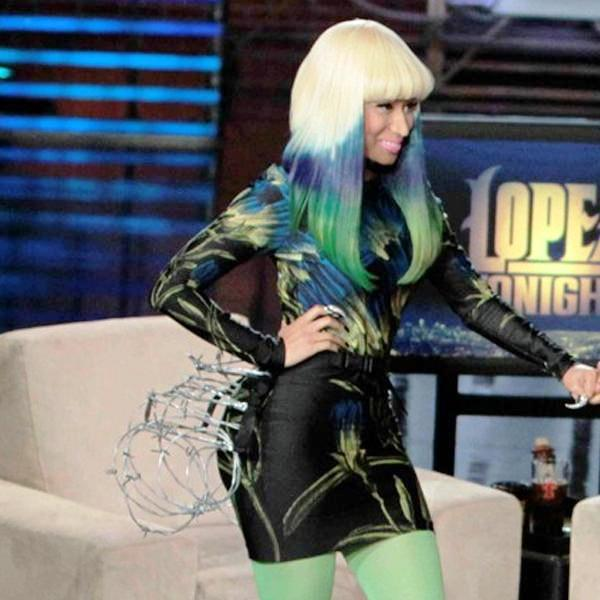 Nicki Minaj Green Tipped Hair