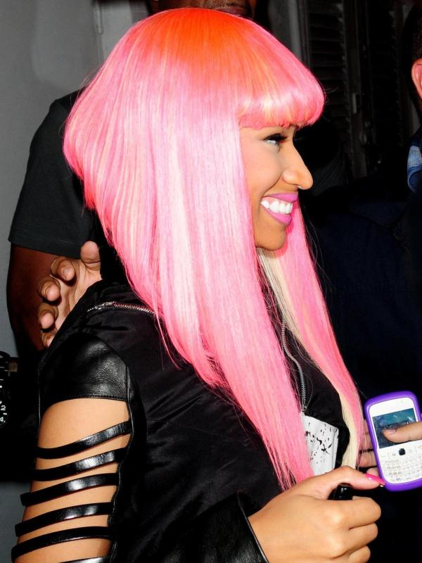 Nicki Minaj Silky Reddish Hair