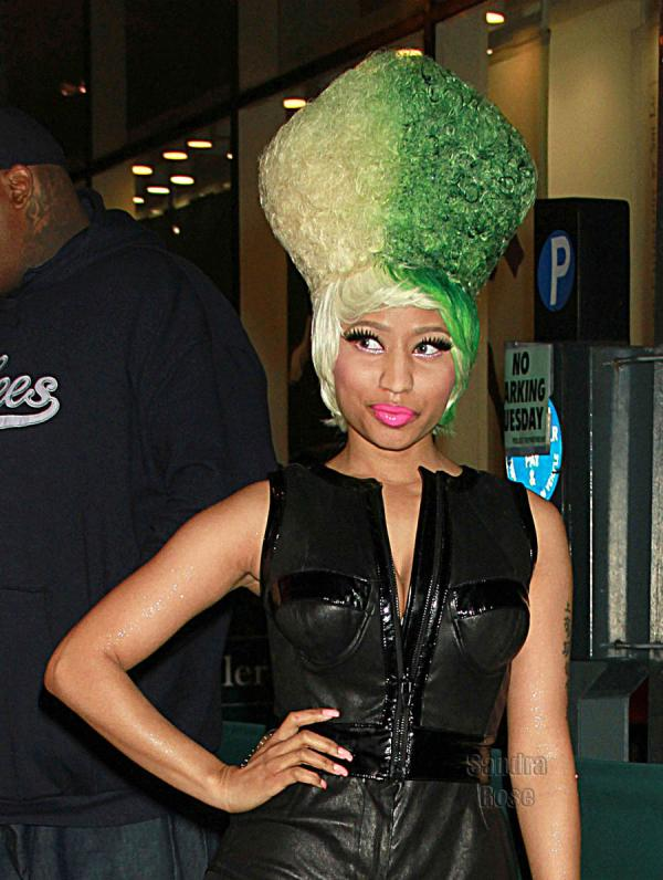 Nicki Minaj Vertical Yellow Green Hair