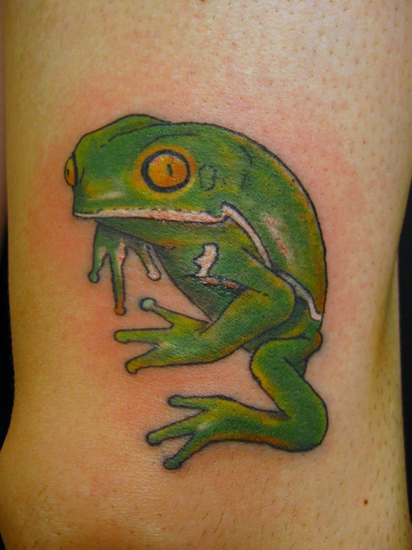 waxy monkey frog 30 Pretty Tattoos You Should Check Today