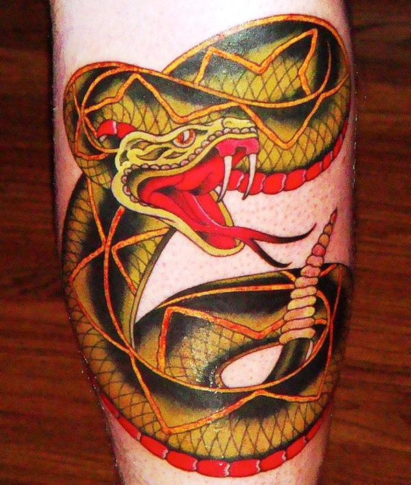 80b2e3224 Snake Tattoos - 30 Scary Collections | Design Press