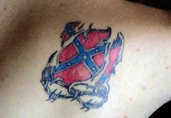 Cool Rebel Flag Tattoo