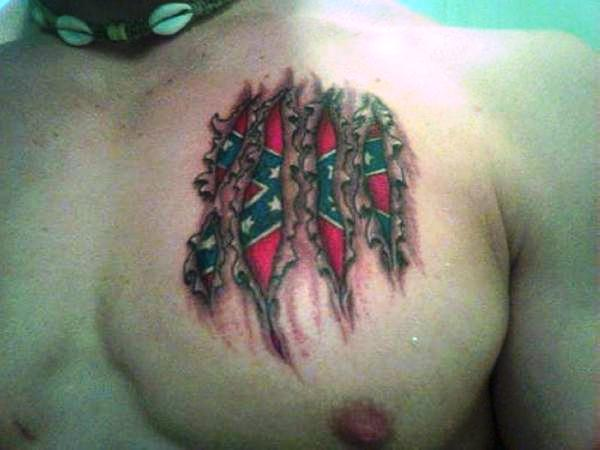 Rebel Flag Tattoo
