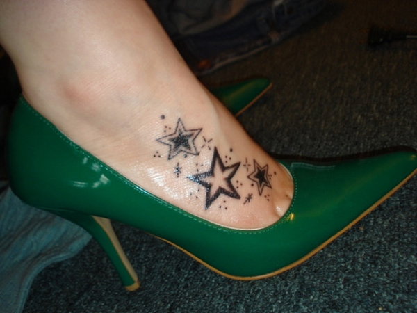 cool foot tattoo 25 Magical Shooting Star Tattoos