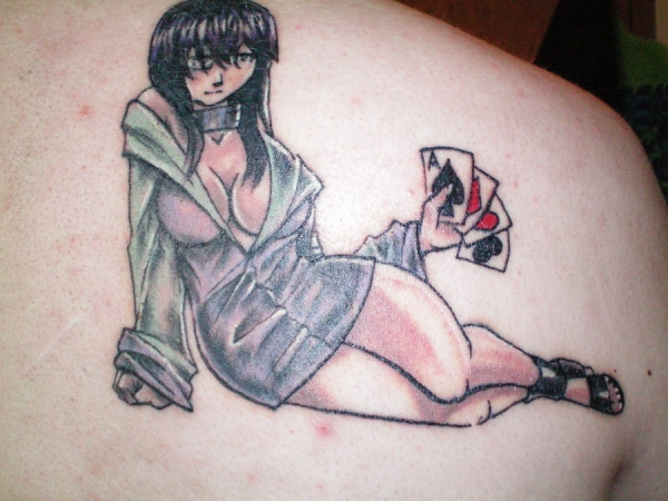 hinata tattoo 25 Awesome Shoulder Blade Tattoos