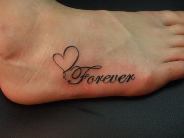 Forever Heart On Foot