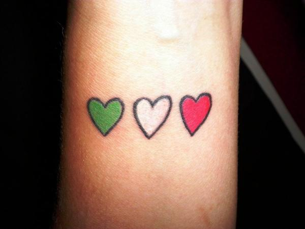 Italian Heart Tattoo