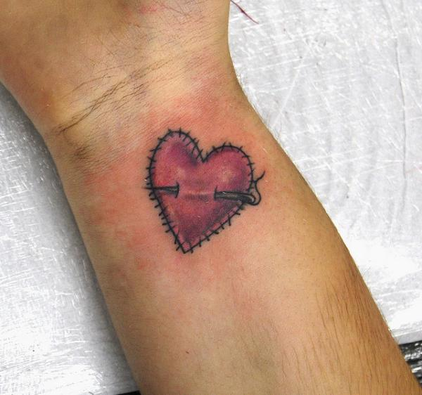 Stitched Heart Tattoo