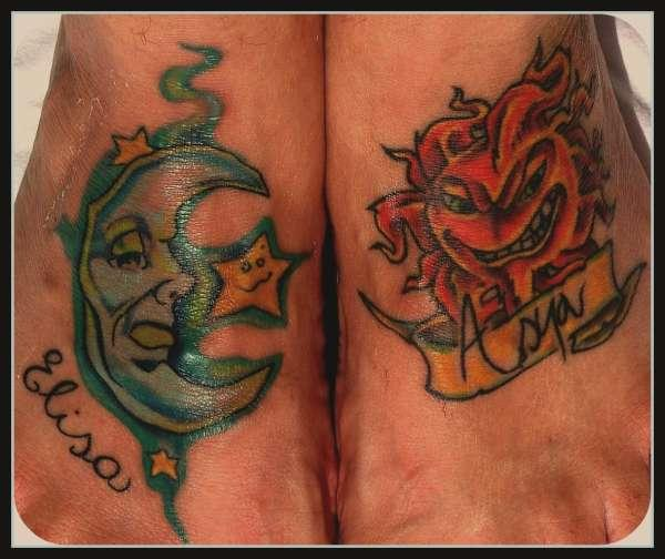 Cunning Sun And Moon Tattoo