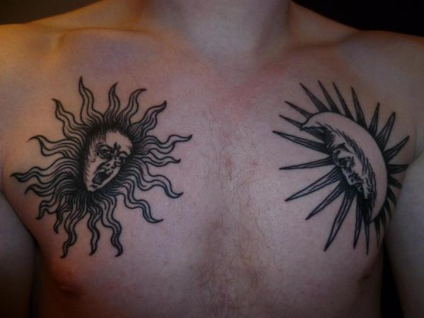 Evangelion Sun Moon Tattoo