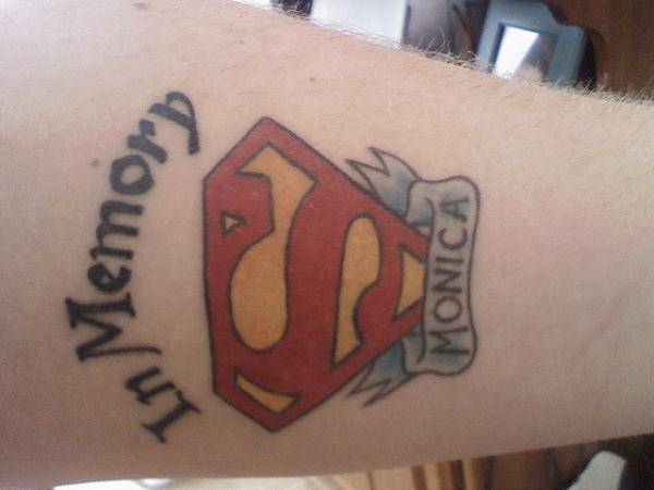 Superman Memorial Tattoo