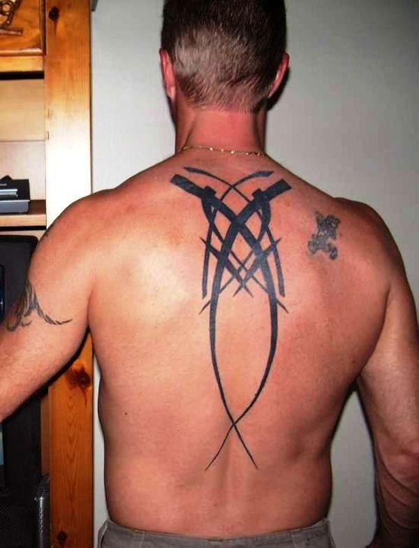 Abstract Tribal Back Art