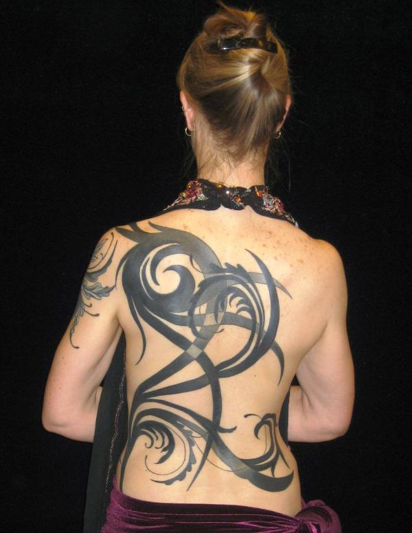 Abstract Tribal Back Piece