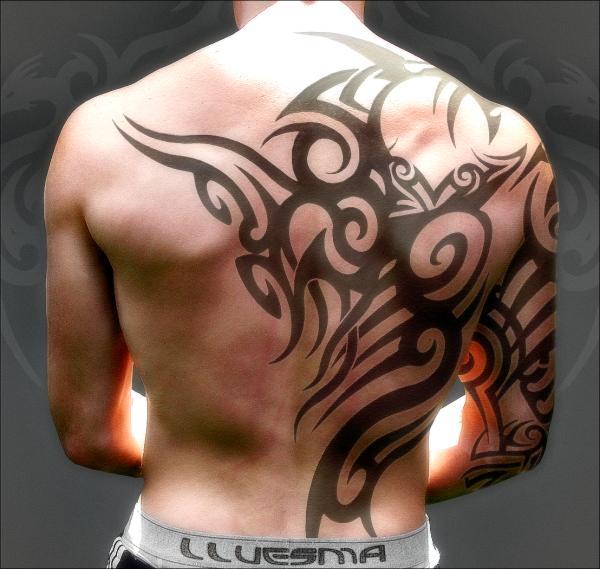 Bold Tribal Tattoo