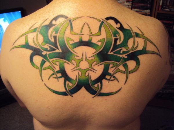 Tribal Biohazard Back Piece