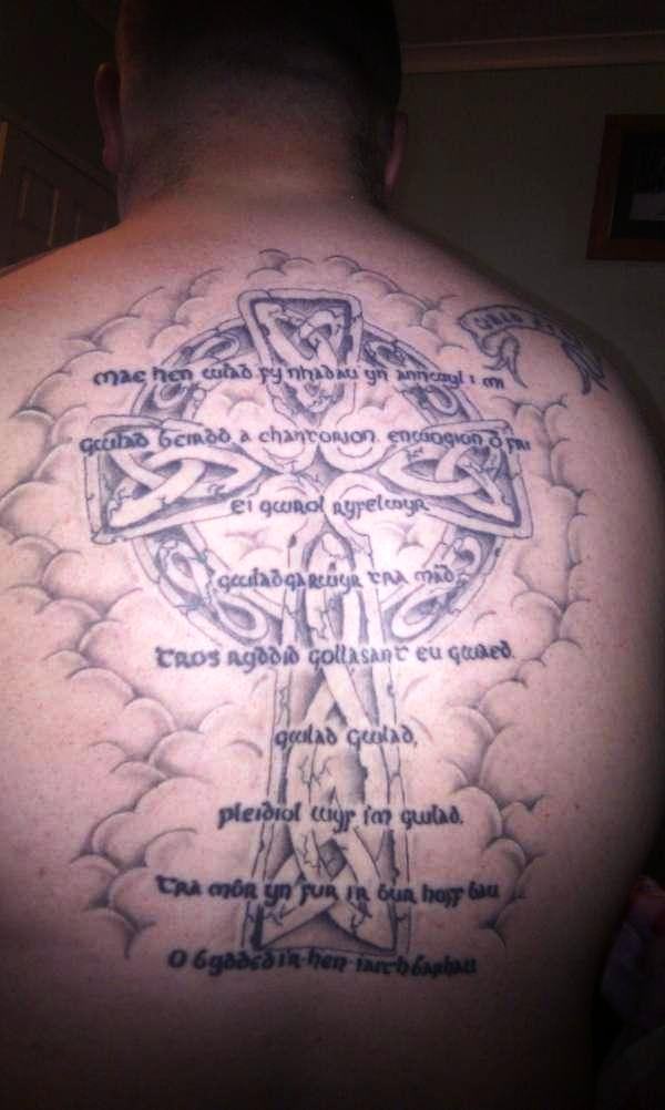Full Back Cross Tattoo