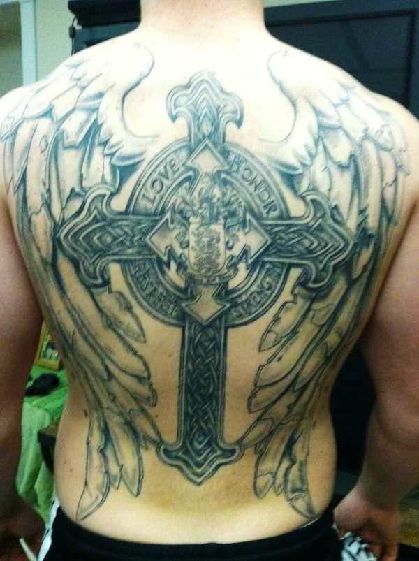 Tribal Cross And Wings