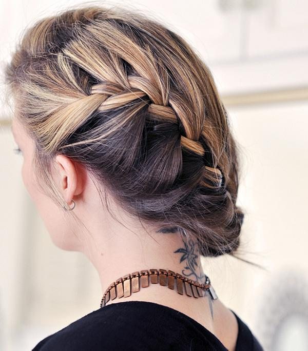 Loose Side French Braid Hair