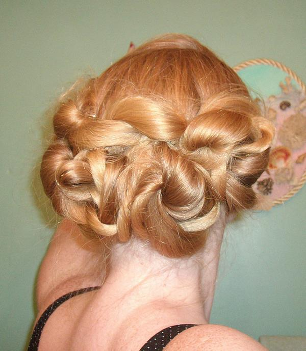vintage up do 35 Updos For Medium Length Hair You Should Check Today