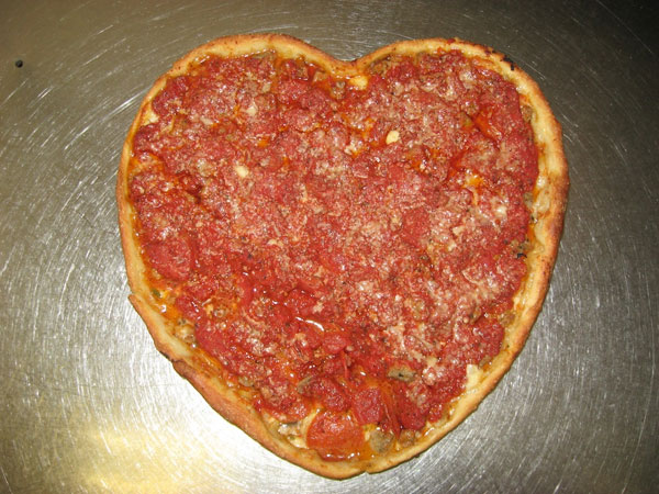 Valentine's Heart Shaped Pizza