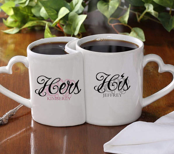 """His & Hers"" Personalized Mug Set"
