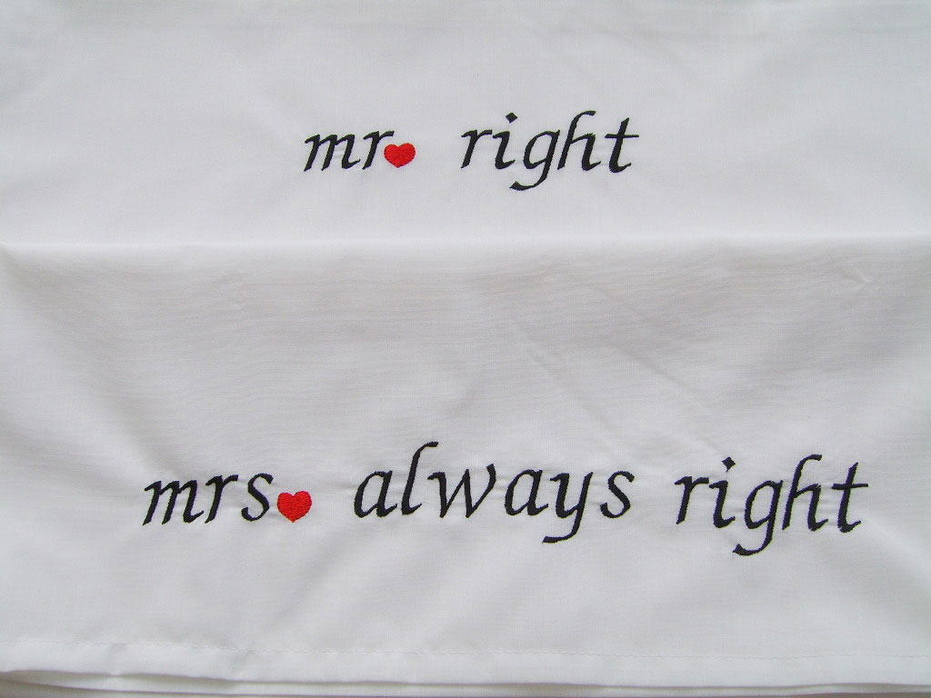 Personalized Wedding Pillowcases