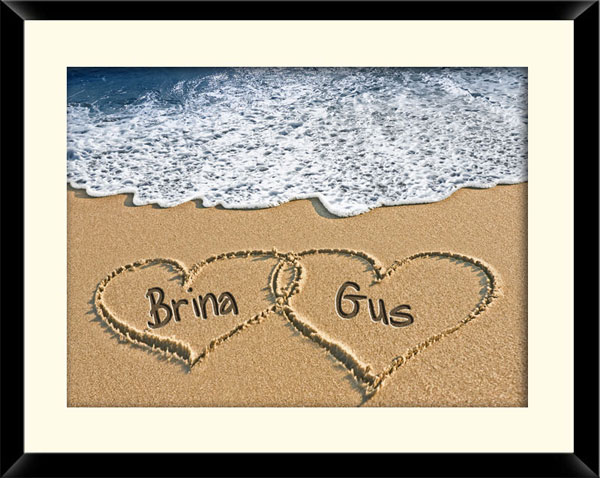 personalized sand framed print 20 Lovely Valentines Day Unique Gift Ideas